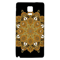 Ornate Mandala Galaxy Note 4 Back Case by Valentinaart