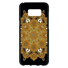 Ornate Mandala Samsung Galaxy S8 Plus Black Seamless Case by Valentinaart