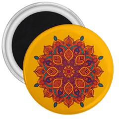 Ornate Mandala 3  Magnets by Valentinaart