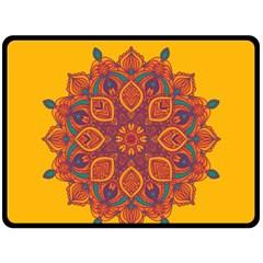 Ornate Mandala Fleece Blanket (large)  by Valentinaart
