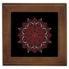 Ornate Mandala Framed Tiles by Valentinaart