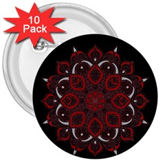 Ornate Mandala 3  Buttons (10 Pack)  by Valentinaart