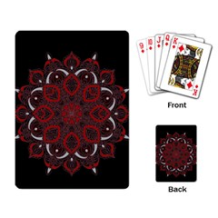 Ornate Mandala Playing Card by Valentinaart