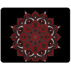 Ornate Mandala Fleece Blanket (medium)  by Valentinaart
