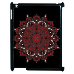 Ornate Mandala Apple Ipad 2 Case (black) by Valentinaart