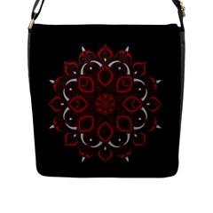 Ornate Mandala Flap Messenger Bag (l)  by Valentinaart