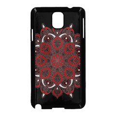 Ornate Mandala Samsung Galaxy Note 3 Neo Hardshell Case (black) by Valentinaart