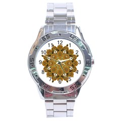 Ornate Mandala Stainless Steel Analogue Watch by Valentinaart