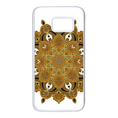 Ornate Mandala Samsung Galaxy S7 White Seamless Case by Valentinaart