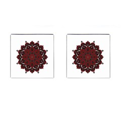 Ornate Mandala Cufflinks (square) by Valentinaart