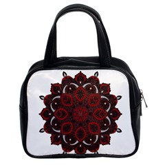 Ornate Mandala Classic Handbags (2 Sides) by Valentinaart