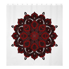Ornate Mandala Shower Curtain 66  X 72  (large)  by Valentinaart