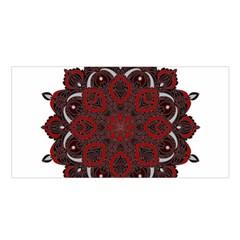 Ornate Mandala Satin Shawl by Valentinaart