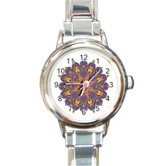 Ornate Mandala Round Italian Charm Watch by Valentinaart