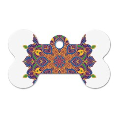 Ornate Mandala Dog Tag Bone (two Sides) by Valentinaart
