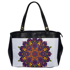 Ornate Mandala Office Handbags by Valentinaart