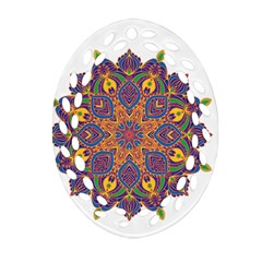 Ornate Mandala Ornament (oval Filigree) by Valentinaart