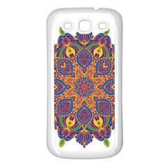 Ornate Mandala Samsung Galaxy S3 Back Case (white) by Valentinaart