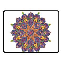 Ornate Mandala Double Sided Fleece Blanket (small)  by Valentinaart