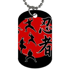 Ninja Dog Tag (two Sides) by Valentinaart