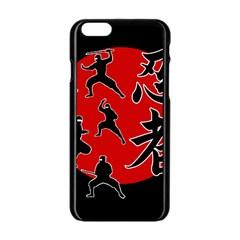 Ninja Apple Iphone 6/6s Black Enamel Case by Valentinaart