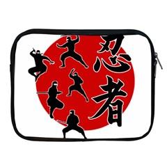 Ninja Apple Ipad 2/3/4 Zipper Cases by Valentinaart