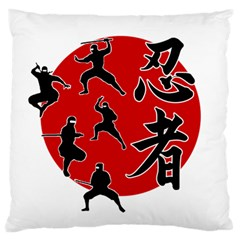 Ninja Large Flano Cushion Case (two Sides) by Valentinaart