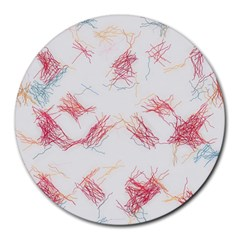 Doodles                      Round Mousepad by LalyLauraFLM