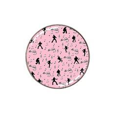 Elvis Presley  Pink Pattern Hat Clip Ball Marker by Valentinaart
