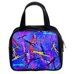 Paint Splashes                       Classic Handbag (two Sides) by LalyLauraFLM