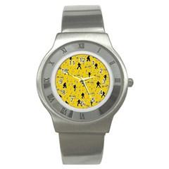 Elvis Presley  Pattern Stainless Steel Watch by Valentinaart