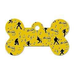 Elvis Presley  Pattern Dog Tag Bone (two Sides) by Valentinaart