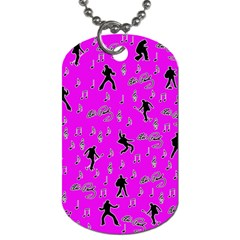 Elvis Presley  Pattern Dog Tag (two Sides) by Valentinaart