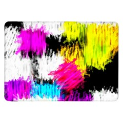 Colorful Blurry Paint Strokes                   Samsung Galaxy Tab 10 1  P7500 Flip Case by LalyLauraFLM