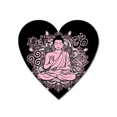 Ornate Buddha Heart Magnet by Valentinaart
