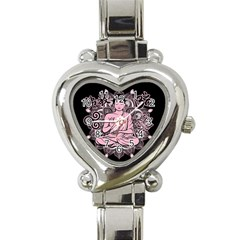 Ornate Buddha Heart Italian Charm Watch by Valentinaart