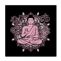 Ornate Buddha Face Towel by Valentinaart