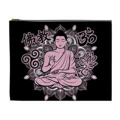 Ornate Buddha Cosmetic Bag (xl) by Valentinaart