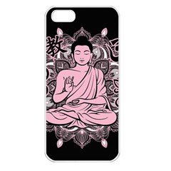 Ornate Buddha Apple Iphone 5 Seamless Case (white) by Valentinaart