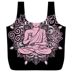 Ornate Buddha Full Print Recycle Bags (l)  by Valentinaart