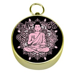 Ornate Buddha Gold Compasses by Valentinaart