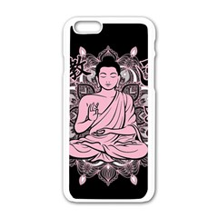 Ornate Buddha Apple Iphone 6/6s White Enamel Case by Valentinaart