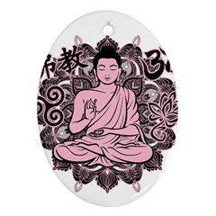 Ornate Buddha Oval Ornament (two Sides) by Valentinaart