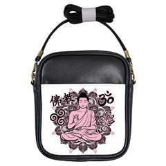 Ornate Buddha Girls Sling Bags by Valentinaart