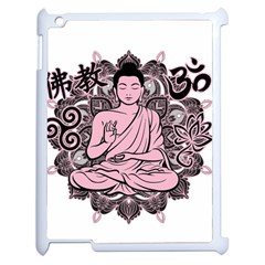 Ornate Buddha Apple Ipad 2 Case (white) by Valentinaart
