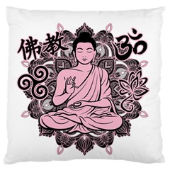 Ornate Buddha Large Cushion Case (one Side) by Valentinaart