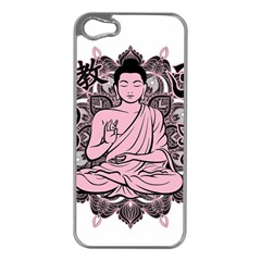 Ornate Buddha Apple Iphone 5 Case (silver) by Valentinaart