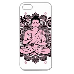 Ornate Buddha Apple Seamless Iphone 5 Case (clear) by Valentinaart