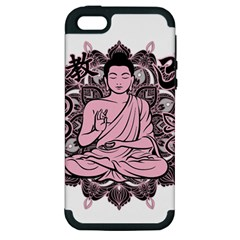 Ornate Buddha Apple Iphone 5 Hardshell Case (pc+silicone) by Valentinaart