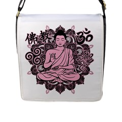 Ornate Buddha Flap Messenger Bag (l)  by Valentinaart